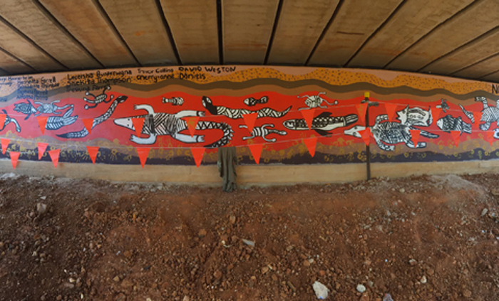 Bridge becomes a canvas for Ngukurr artists
