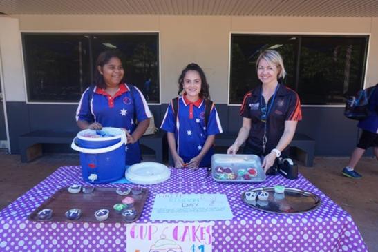 Girls at cupcake stall