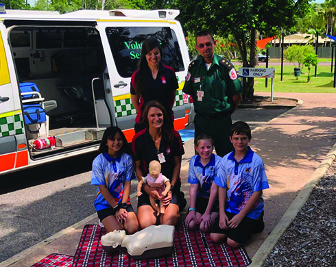 Students hone lifesaving skills during St John Ambulance stop