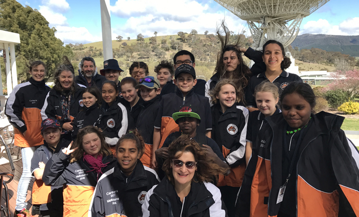 School of the Air students visit Canberra