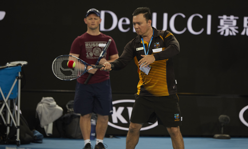 Darwin teacher has ace time at Australian Open