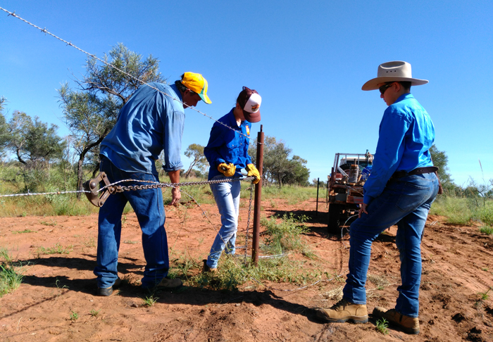 Images of Tennant Creek Students at Bluebush Station