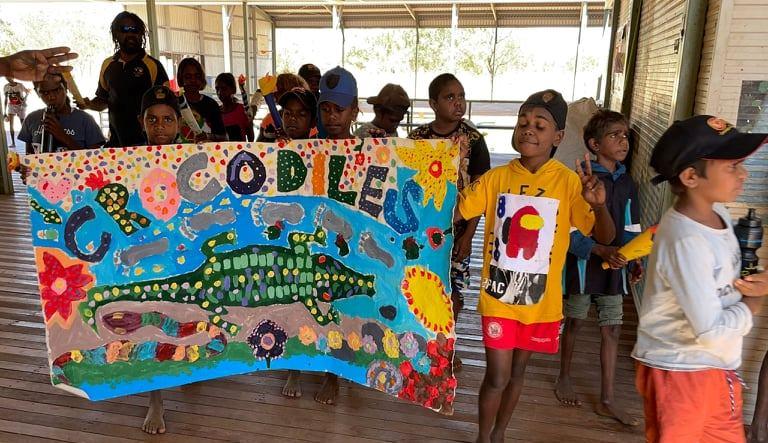 The Crocodile class with their distinctive flag