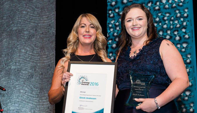 Prestigious prize collected by dental apprentice