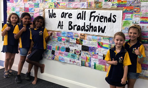 Bradshaw progressive in battling bullying